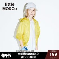 Jacket / leather Little MO&CO. neutral 140cm 150cm 155cm 110cm 120cm 100cm 130cm other Europe and America Thin money No detachable cap Zipper shirt There are models in the real shooting other Class C Polyamide fiber (nylon) 100% Summer of 2019