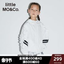 Jacket / leather Little MO&CO. female Ben is white and foggy pink 140cm 150cm 155cm 110cm 120cm 100cm 130cm other Europe and America spring and autumn routine No detachable cap Zipper shirt There are models in the real shooting VEZP85825 other Polyester 100% Spring of 2019