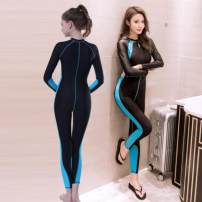 one piece  FASIBETTS M (recommended weight 80-100 kg), l (recommended weight 101-120 kg), XL (recommended weight 120-135 kg), XXL (recommended weight 135-145 kg) Black, 1882-1 black + green, 1882-2 black + orange, 1881 rose red, 1881 blue, 1883 blue, 1915 women's lake blue Nylon, spandex female