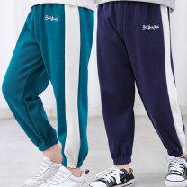 trousers Bei Fujia neutral 80cm 90cm 100cm 110cm 120cm 130cm 140cm 150cm 160cm spring and autumn trousers leisure time No model Sports pants Leather belt middle-waisted cotton Don't open the crotch Cotton 60% polyester 40% Class A Autumn 2020 Chinese Mainland Henan Province Shangqiu City