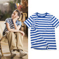 T-shirt Spring 2020 Short sleeve Crew neck easy Regular routine street other 96% and above classic Thick horizontal stripe Other 100% navy