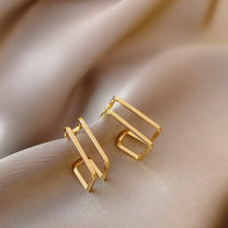 Earrings Alloy / silver / gold RMB 1.00-9.99 Other / other brand new female Japan and South Korea goods in stock Online gathering features Not inlaid other