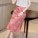 skirt Summer 2020 S M L XL Add shopping cart + pay attention to the store automatically reduce 5 yuan Mid length dress Versatile Natural waist A-line skirt Type A 30-34 years old BQ200081 More than 95% Whmk / afternoon Mocha polyester fiber printing Pure e-commerce (online only)