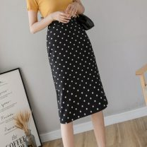 skirt Summer 2021 S M L XL Black apricot Mid length dress Versatile High waist skirt Dot Type H 25-29 years old 9623 in stock More than 95% Zetifen other Other 100% Pure e-commerce (online only)