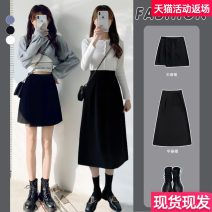 skirt Spring 2021 S M L XL 2XL 3XL 4XL Black short skirt black long skirt black short skirt Plush black long skirt plush (advertising not to shoot) collection plus purchase priority delivery, pay attention to the shop can also get a large discount volume Mid length dress commute High waist Type A