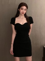 Women's large Summer 2020 black S M L Dress singleton  commute Korean version XG62350 Mugery / muger 18-24 years old Other 100.00% Pure e-commerce (online only)