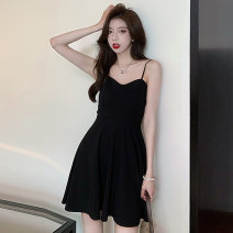 Dress Summer 2021 black S M L XL Short skirt singleton  Sleeveless commute other High waist Solid color A-line skirt camisole 18-24 years old Type A Jane golly Retro JGL-SB9193 More than 95% other Other 100% Pure e-commerce (online only)