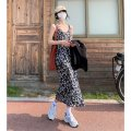 Dress Summer 2021 Floral suspender skirt S M L longuette singleton  Sleeveless commute other High waist Decor Socket A-line skirt routine camisole 18-24 years old Type A Shenmu (clothing) printing More than 95% other polyester fiber Polyester 100% Pure e-commerce (online only)