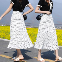 skirt Spring 2021 Color 1 color 2 color 3 color 4 color 5 Color 6 color 7 color 8 color Mid length dress Versatile Natural waist Pleated skirt Broken flowers Type A 18-24 years old 9650# More than 95% Chiffon other Other 100% Pure e-commerce (online only)