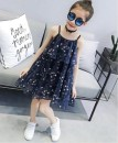 Dress Blue, white, 7,5,8,4,9,3,2,6,1 female Other / other 150cm,160cm,140cm,120cm,110cm,130cm Other 100% summer Korean version Skirt / vest Broken flowers Chiffon Cake skirt Class B 12 months Chinese Mainland