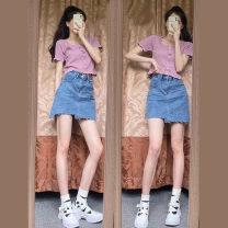 shoe stretcher Denim skirt s Denim Skirt M denim skirt l Denim Skirt XL Colocasia top s Colocasia top m Colocasia top L Colocasia Top XL Colocasia top + Denim skirt s Taro top + Denim Skirt M taro top + Denim skirt l taro top + Denim Skirt XL Cheng Biao