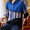 shirt Blue black M L XL 2XL 3XL 4XL Autumn 2020 other 96% and above Long sleeves commute Regular Polo collar Single row multi button raglan sleeve other 30-34 years old Korean version Other 100% hemp