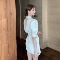 Women's large Summer 2020 Black apricot S M L singleton  commute Self cultivation moderate Cardigan Short sleeve Solid color Korean version other Three dimensional cutting routine Z0233 Xia Qilin 18-24 years old belt Short skirt Other 100%