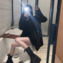 Women's large Winter 2020 Black {dress} black {suit coat} S M L Jacket / jacket Two piece set commute easy moderate Cardigan Long sleeves Solid color Korean version Half open collar Medium length Three dimensional cutting routine Z4467 Xia Qilin 18-24 years old chain Short skirt Other 100% other