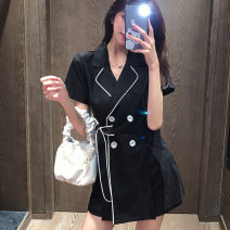 suit Summer 2020 S M L XL 2XL 3XL Short sleeve routine Self cultivation tailored collar Single breasted routine Solid color 30-34 years old 96% and above other Other 100%