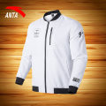Sports jacket / jacket Anta male S M L XL 2XL 3XL Pure white three hundred and sixty-nine Autumn 2020 stand collar zipper Brand logo Sports & Leisure UV resistant, quick drying, ultra light and breathable Sports life yes