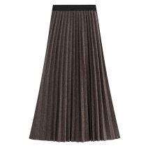 skirt Autumn 2020 Average size Short skirt Pleated skirt Solid color 18-24 years old Wool Splicing