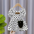 Dress Bag fashion dress white bag fashion dress black female Cute girl 80cm 90cm 100cm 110cm 120cm 130cm Other 100% summer lady Short sleeve Cartoon animation Chiffon Lotus leaf edge MXZ8009 other Summer 2021 12 months, 6 months, 9 months, 18 months, 2 years, 3 years, 4 years, 5 years, 6 years