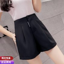 Casual pants White black S M L XL Spring 2021 shorts Wide leg pants High waist commute Thin money 25-29 years old 91% (inclusive) - 95% (inclusive) CBN080129 Pure Benny other Korean version pocket polyester fiber Polyethylene terephthalate (polyester) 91% others 9% Pure e-commerce (online only)