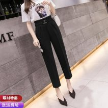 Casual pants Black dark blue S M L XL 2XL Spring 2021 trousers Haren pants High waist commute routine 25-29 years old 91% (inclusive) - 95% (inclusive) CBN301229 Pure Benny other Korean version pocket polyester fiber Polyethylene terephthalate (polyester) 91% others 9% Pure e-commerce (online only)