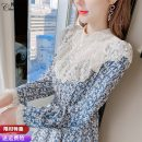 Dress Spring 2021 Picture color S M L XL 2XL longuette singleton  Long sleeves commute stand collar High waist Solid color Socket A-line skirt routine Others 25-29 years old Type A Pure Benny Korean version Lace CBN300303 91% (inclusive) - 95% (inclusive) Chiffon polyester fiber