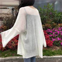 short coat Spring 2020 Average size Milky white - FP, gray lotus root - CSS Long sleeves Medium length Thin money singleton  easy Versatile pagoda sleeve Solid color Under 17 96% and above other