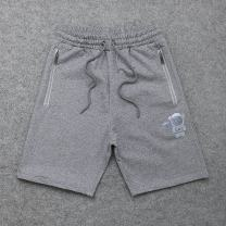 Casual pants Others Youth fashion grey M,L,XL,2XL routine Shorts (up to knee) Other leisure easy Micro bomb summer youth tide Straight cylinder Sports pants Pocket decoration No iron treatment Solid color cotton