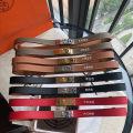 Belt / belt / chain top layer leather female belt Single loop Glossy surface 1.7cm copper