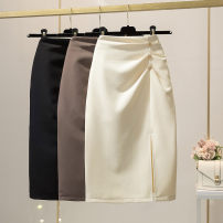 skirt Summer 2021 S,M,L,XL Apricot, brown, black longuette Versatile High waist skirt Solid color Type H 25-29 years old 5 yes 51% (inclusive) - 70% (inclusive) knitting other zipper 401g / m ^ 2 (inclusive) - 500g / m ^ 2 (inclusive)