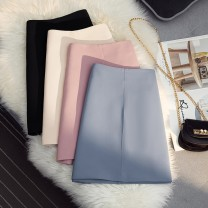 skirt Spring 2021 S,M,L,XL Black, apricot, blue, pink longuette Versatile High waist Umbrella skirt Solid color Type H 25-29 years old 51% (inclusive) - 70% (inclusive) other other Zipper, fold