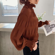 T-shirt M L XL 2XL 3XL 4XL Autumn 2020 Long sleeves Half high collar easy Regular pagoda sleeve commute other 96% and above Korean version originality Solid color L'uechunre Other 100% Pure e-commerce (online only)