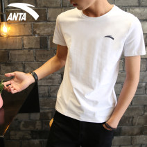 Sports T-shirt Anta 165/S 170/M 175/L 180/XL 185/2XL 190/3X Short sleeve male Crew neck 95827116-TY1 routine Moisture absorption, perspiration and ventilation Summer 2021 Brand logo run Comprehensive training clothing yes