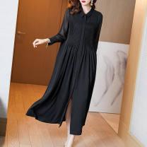 Square dance suit other M,L,XL,2XL,3XL,4XL black female routine easy Long sleeves longuette
