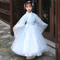 Tang costume Sky blue / without shawl sky blue with shawl pink with shawl pink without shawl Polyester 100% female There are models in the real shooting routine Naughty Phil Class B T-008 Chinese Mainland Shandong Province Spring 2021 HeZe