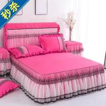 Bed skirt Others Purple, jade, Matcha green, light pink, medium pink, rose red Other / other Solid color Qualified products