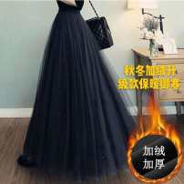 skirt Winter 2020 78cm (to calf), 88cm (below 165 to ankle), 98cm (above 165 to ankle), 68cm (to knee) Mid length dress High waist Fluffy skirt Pleating