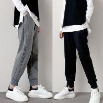 Casual pants Black w065 Plush pants, dark grey w065 Plush pants M,L,XL Winter 2020 trousers Natural waist thickening Other