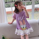 Home skirt / Nightgown Moqi Cotton 95% polyurethane elastic fiber (spandex) 5% St20370 # [cotton fabric does not Pille] summer female 11-13 years old or above 13 years old 3-5 years old 5-7 years old 7-9 years old 9-11 years old Sweat absorption and moisture absorption at home Class B cotton ST20370#