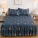 Bed skirt 120cmx200cm for a pair of pillowcases, 150cmx200cm for a pair of pillowcases, 180cmx200cm for a pair of pillowcases, 180cmx220cm for a pair of pillowcases, 200cmx220cm for a pair of pillowcases cotton Other / other Plants and flowers First Grade