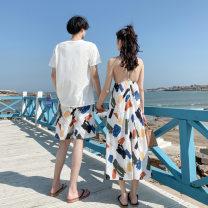 Dress Women's dress, men's suit S,XL,L,M,XXL,XXXL longuette singleton  other 18-24 years old Splicing other polyester fiber