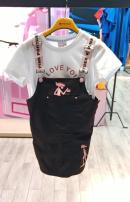 skirt 110cm,120cm,130cm,140cm,150cm black Other / other female Cotton 95% polyurethane elastic fiber (spandex) 5% summer leisure time Cartoon animation A-line skirt cotton FPQ0223250