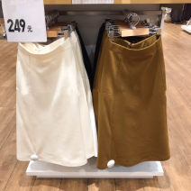 skirt Autumn of 2019 S,M,L,XL Maroon, black, white Solid color Type A