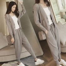 Casual suit Autumn 2020 Grey (for vest), black (for vest) S,M,L,XL,XXL,XXXL 18-25 years old Other / other polyester fiber
