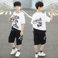suit Mairuibao White yellow black 120cm 130cm 140cm 150cm 160cm 170cm male summer leisure time Short sleeve + pants 2 pieces Thin money There are models in the real shooting Socket nothing Cartoon animation blending children Giving presents at school MRB35-270 Class B Other 100% Summer 2021