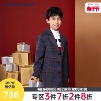 woolen coat Navy navy / 59 110cm 120cm 130cm 140cm 150cm 160cm 170cm male E·LAND KIDS Wool There are models in the real shooting nothing Britain spring and autumn Single breasted Other 100% lattice EKJWB1101D-442544