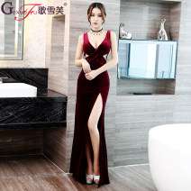 Dress Winter 2016 Song Xuefu S,M,L,XL,XXL Black, wine red, royal blue