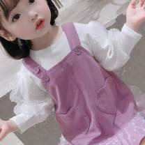 Dress Purple, yellow female Other / other 80cm,90cm,100cm,110cm,120cm,130cm Other 100% spring and autumn Korean version Strapless skirt other other Harrycho love strap skirt suit Class A