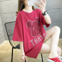 T-shirt White, red, black M L XL 2XL Spring 2021 Short sleeve Crew neck easy Medium length routine commute cotton 86% (inclusive) -95% (inclusive) Retro Funny Cartoon animation Wang Yihong 2045 summer printing Cotton 86% others 14% Pure e-commerce (online only)