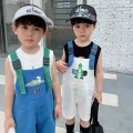Hat cotton Black, white, blue Average size (48-50cm, about 8 months - 2 years old) Sun hat summer leisure time Parent child, child, juvenile Other / other LC459