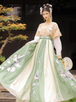 Hanfu 81% (inclusive) - 90% (inclusive) Summer 2020 Flat collar half arm + lining + lower skirt 12 ragged skirts in stock S M L XL polyester fiber